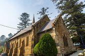 Facade Of The Magnificent Kiama Scots Presbyterian Church, Built In 1863 In Early English Architectu poster