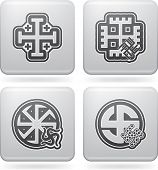 stock photo of swastika  - Religion is the adherence to codified beliefs and rituals pictured here from left to right: 