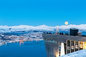 View on Tromso from Tromso City View Point, Norway, Christmas in Tromso, Norway   poster