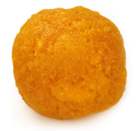 stock photo of laddu  - Laddu of Indian Subcontinent over white background - JPG