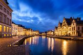 pic of nightfall  - Travel Europe Belgium background  - JPG
