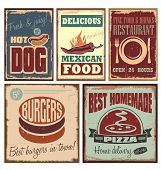 pic of 1950s style  - Vintage style tin signs and retro posters - JPG