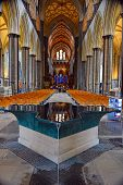 Nave, Baptismal Font of Salisbury Cathedral