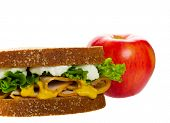 image of school lunch  - A healthy lunch for school and people on the go - JPG