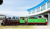 image of former yugoslavia  - steam locomotive in depot - JPG