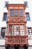 pic of stein  - Painted facade of a historic building in the Swiss city Stein an Rhein - JPG