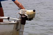 foto of outboard  - Photo of Outboard motor - JPG