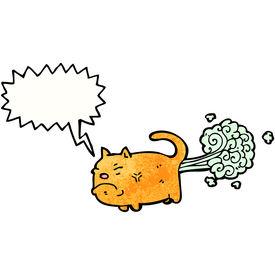 pic of fart  - cartoon farting cat - JPG