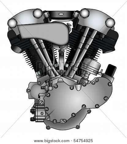 Classic Vtwin Motorcycle Engine