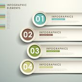 picture of  realistic  - realistic vector abstract 3d paper infographic elements - JPG