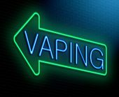 foto of e-cig  - Illustration depicting an illuminated neon sign with a vaping concept - JPG