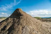 pic of mud  - Mud volcanoes with spectaculos clouds from Mud Volcanoes  - JPG