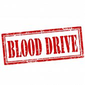 image of blood drive  - Grunge rubber stamp with text Blood Drive - JPG