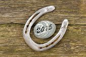 picture of talisman  - horseshoe as talisman for success at new year 2015 - JPG
