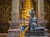 pic of hermit  - statue of hermit located in front of temple - JPG