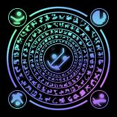 pic of rune  - Runes generated hires texture on black background - JPG