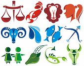 picture of cancer horoscope icon  - Vector symbols of zodiac - JPG