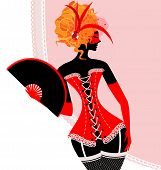 image of mummer  - abstract carnival red - JPG