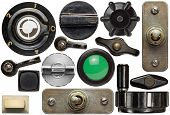 pic of toggle switch  - Various old device knobs - JPG