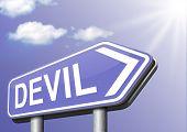 picture of satan  - devil evil satan burn in hell   - JPG