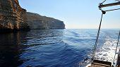pic of gozo  - Cliffs in Gozo - JPG