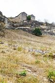 pic of kale  - Buildings of medieval town chufut kale on mountain in Crimea - JPG