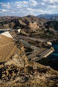 pic of hydroelectric  - Views from Keban an old hydroelectric energy dam near ElazigTurkey - JPG