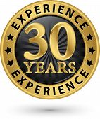 picture of experiments  - 30 years experience gold label vector illustration - JPG