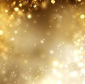 stock photo of christmas eve  - Christmas Gold Background - JPG
