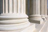pic of supreme court  - Supreme Court of United states columns row in Washington DC - JPG