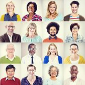 picture of diversity  - Protrait of Group Diversity People Community Happiness Concept - JPG