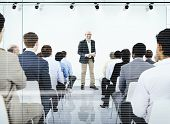 stock photo of seminar  - Business People Meeting Seminar Conference Audience Team Concept - JPG