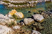image of crystal clear  - Rocky River Bed of the Crystal Clear Frio River - JPG