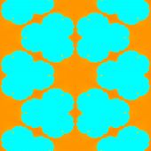 picture of heartwarming  - Abstract tileable yellow orange turquoise pattern  - JPG