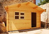 Almost Complete Wooden Cabin With Window
