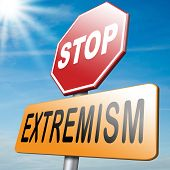 picture of extremist  - stop extremism political and religion terrorism and discrimination - JPG