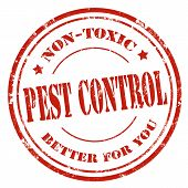 stock photo of pest control  - Grunge rubber stamp with text Pest Control - JPG