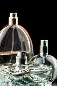 image of perfume  - Three bottles of perfumes - JPG