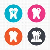 image of tooth  - Circle buttons - JPG