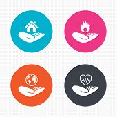 picture of fire insurance  - Circle buttons - JPG