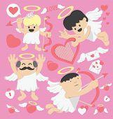 picture of cupid  - Illustration Cartoons Valentines Day cartoon cupid  - JPG