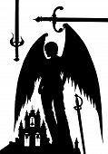 image of sword  - Angel castle and the sword - JPG