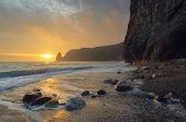 pic of crimea  - Seascape with rocks on the shore - JPG
