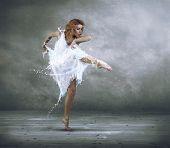 picture of ballerina  - Ballerina with dress of milk - JPG