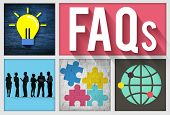 picture of faq  - FAQs Guidance Answers Questions Feedback Concept - JPG