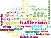 foto of ballerina  - Background concept wordcloud multilanguage international many language illustration of ballerina - JPG