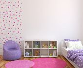 pic of violets  - Colorful playroom interior - JPG