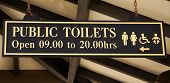 foto of gibraltar  - Signboard of toilette in Gibraltar  - JPG