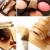 make-up products collage