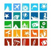 Постер, плакат: Огромный набор иконок туризм и отдых